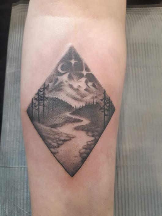 Nature Triangle Tattoo